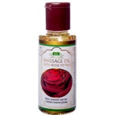 Массажное масло с лепестками роз для лица и тела, 100 мл
